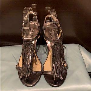 Michael Kors Gunmetal Tassel Sandals